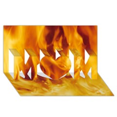 Yellow Flames Mom 3d Greeting Card (8x4)