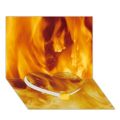 YELLOW FLAMES Heart Bottom 3D Greeting Card (7x5)