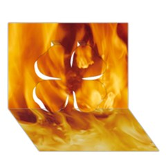 YELLOW FLAMES Clover 3D Greeting Card (7x5)