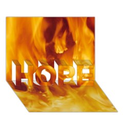 Yellow Flames Hope 3d Greeting Card (7x5)
