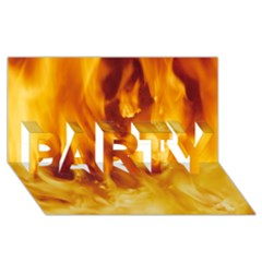 Yellow Flames Party 3d Greeting Card (8x4)