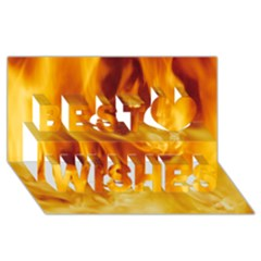 YELLOW FLAMES Best Wish 3D Greeting Card (8x4)