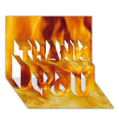 Yellow Flames Thank You 3d Greeting Card (7x5)