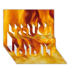 Yellow Flames You Did It 3d Greeting Card (7x5)