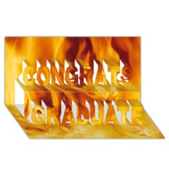 Yellow Flames Congrats Graduate 3d Greeting Card (8x4)