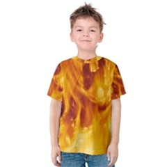 YELLOW FLAMES Kid s Cotton Tee