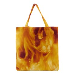 Yellow Flames Grocery Tote Bags