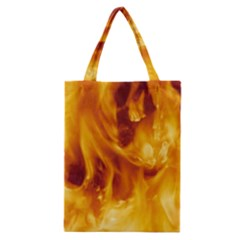 YELLOW FLAMES Classic Tote Bags