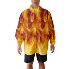 Yellow Flames Wind Breaker (kids)