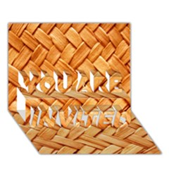 WOVEN STRAW YOU ARE INVITED 3D Greeting Card (7x5)