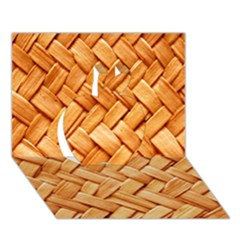WOVEN STRAW Apple 3D Greeting Card (7x5)