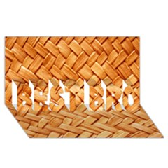 WOVEN STRAW BEST BRO 3D Greeting Card (8x4)