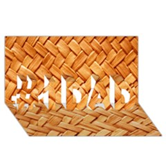 Woven Straw #1 Dad 3d Greeting Card (8x4)