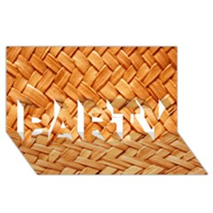 Woven Straw Party 3d Greeting Card (8x4)