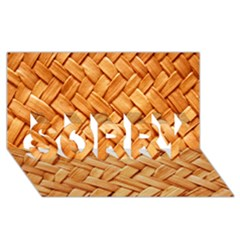 Woven Straw Sorry 3d Greeting Card (8x4)