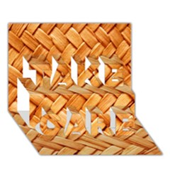 WOVEN STRAW TAKE CARE 3D Greeting Card (7x5)