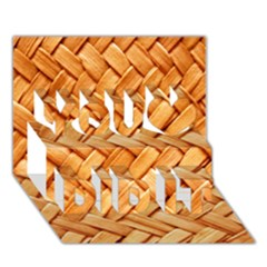 Woven Straw You Did It 3d Greeting Card (7x5)