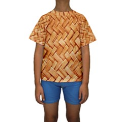 WOVEN STRAW Kid s Short Sleeve Swimwear