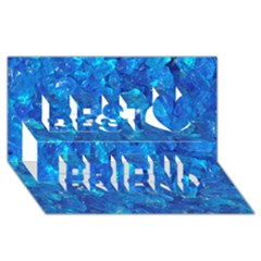 TURQUOISE GLASS Best Friends 3D Greeting Card (8x4)