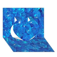 Turquoise Glass Heart 3d Greeting Card (7x5)