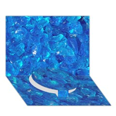 Turquoise Glass Circle Bottom 3d Greeting Card (7x5)