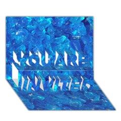 TURQUOISE GLASS YOU ARE INVITED 3D Greeting Card (7x5)