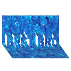 TURQUOISE GLASS BEST BRO 3D Greeting Card (8x4)