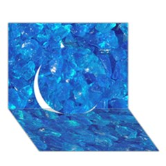 Turquoise Glass Circle 3d Greeting Card (7x5)