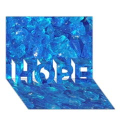 Turquoise Glass Hope 3d Greeting Card (7x5)