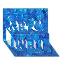 TURQUOISE GLASS Get Well 3D Greeting Card (7x5)