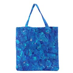 TURQUOISE GLASS Grocery Tote Bags