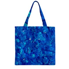 TURQUOISE GLASS Zipper Grocery Tote Bags