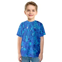 TURQUOISE GLASS Kid s Sport Mesh Tees