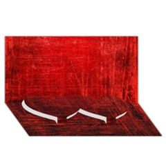 Shades Of Red Twin Heart Bottom 3d Greeting Card (8x4)