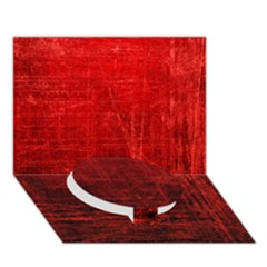 Shades Of Red Circle Bottom 3d Greeting Card (7x5)