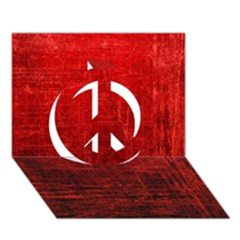 Shades Of Red Peace Sign 3d Greeting Card (7x5)
