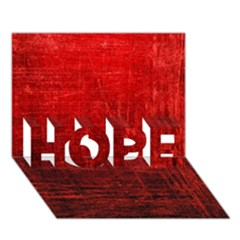 Shades Of Red Hope 3d Greeting Card (7x5)