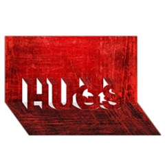 Shades Of Red Hugs 3d Greeting Card (8x4)