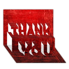 SHADES OF RED THANK YOU 3D Greeting Card (7x5)