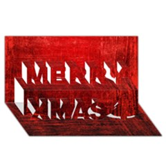 Shades Of Red Merry Xmas 3d Greeting Card (8x4)