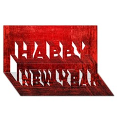 Shades Of Red Happy New Year 3d Greeting Card (8x4)