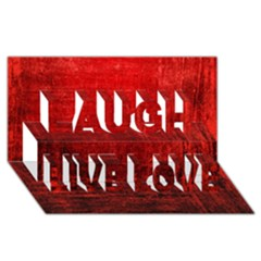 SHADES OF RED Laugh Live Love 3D Greeting Card (8x4)