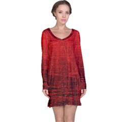 SHADES OF RED Long Sleeve Nightdresses