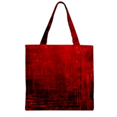 SHADES OF RED Zipper Grocery Tote Bags