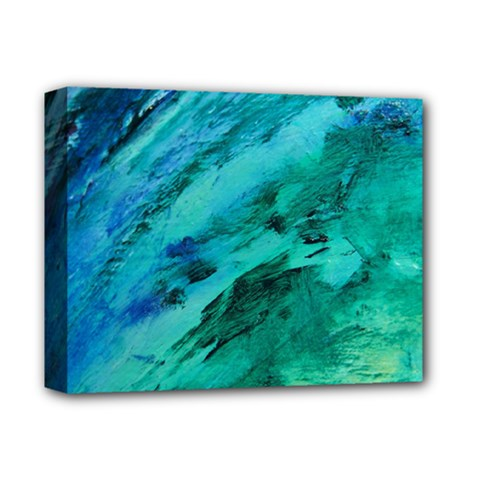 SHADES OF BLUE Deluxe Canvas 14  x 11
