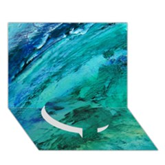 SHADES OF BLUE Circle Bottom 3D Greeting Card (7x5)