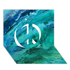 Shades Of Blue Peace Sign 3d Greeting Card (7x5)
