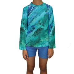 SHADES OF BLUE Kid s Long Sleeve Swimwear