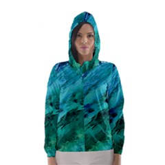 SHADES OF BLUE Hooded Wind Breaker (Women)