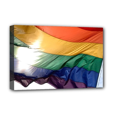 PRIDE FLAG Deluxe Canvas 18  x 12
